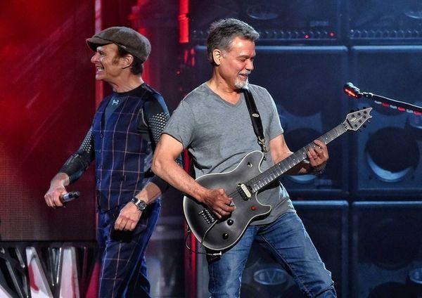 David Lee Roth, left, and Eddie Van Halen
