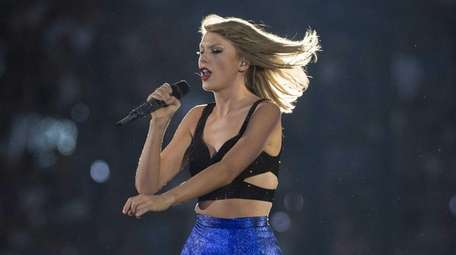 Taylor Swift performs during her