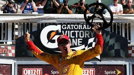 Joey Logano, driver of the #22 Shell Pennzoil