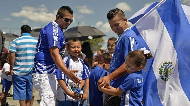 Visitors enjoy the 9th annual Salvadoran-American Festival in