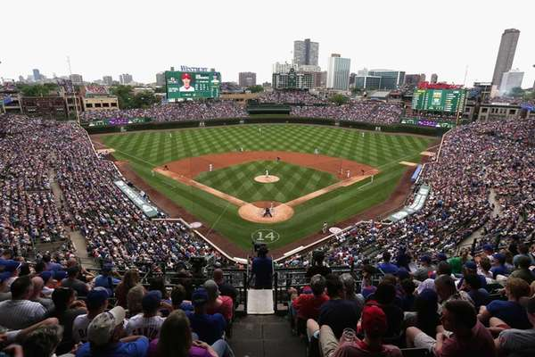 A general view of Wrigley Field as the