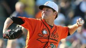 Rich Hill #32 threw six innings and recorded