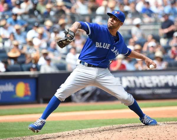 Toronto Blue Jays starting pitcher David Price delivers