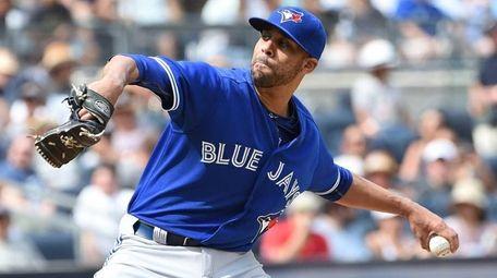 Toronto Blue Jays starting pitcher David Price delivers