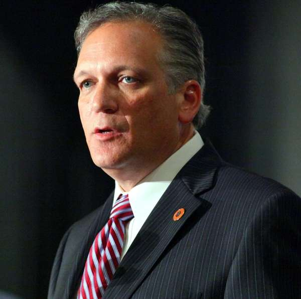 Nassau County Executive Edward Mangano squares off in