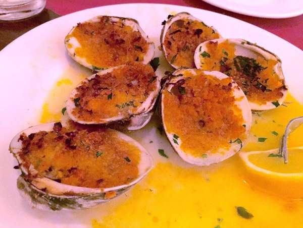 Baked clams at Taormina Ristorante & Pizzeria in