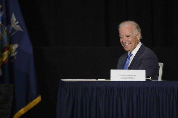 Vice President Joe Biden in Manhattan on Monday,