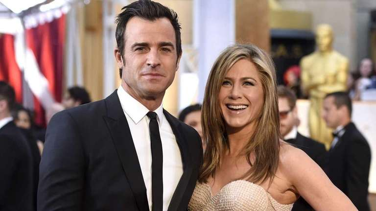 Justin Theroux and Jennifer Aniston, pictured arriving at