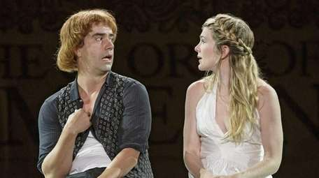 Hamish Linklater and Lily Rabe in The Public