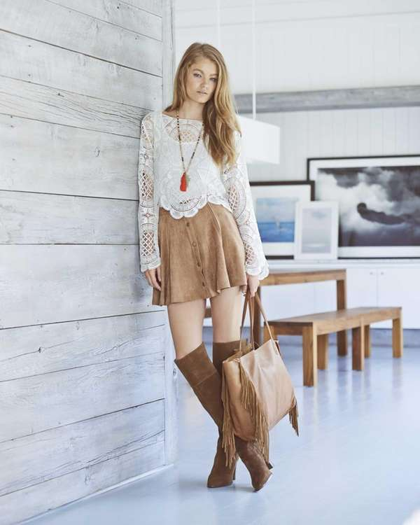 A lacy, retro style top ($68) by Design