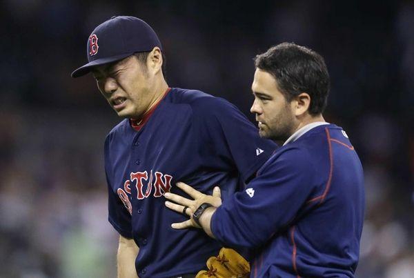 Boston Red Sox relief pitcher Koji Uehara is