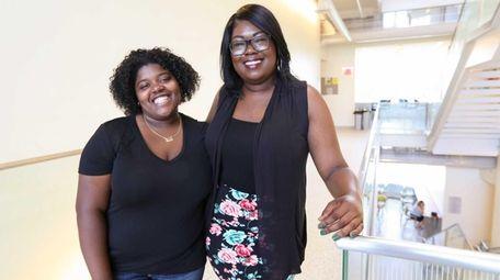 Roosevelt High School graduates Jada Dunn, left, and