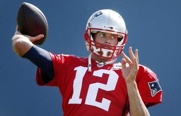 New England Patriots quarterback Tom Brady passes during