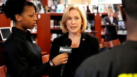 U.S. Sen. Kirsten Gillibrand is interviewed by student
