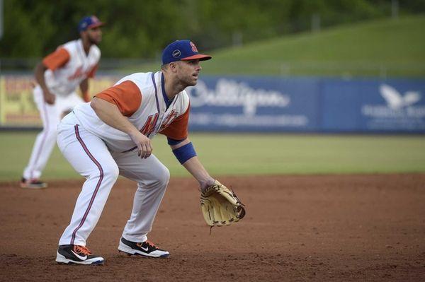 New York Mets third baseman David Wright sets