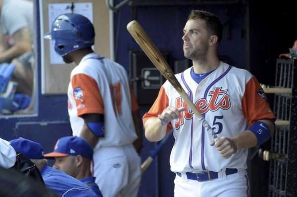 New York Mets third baseman David Wright prepares