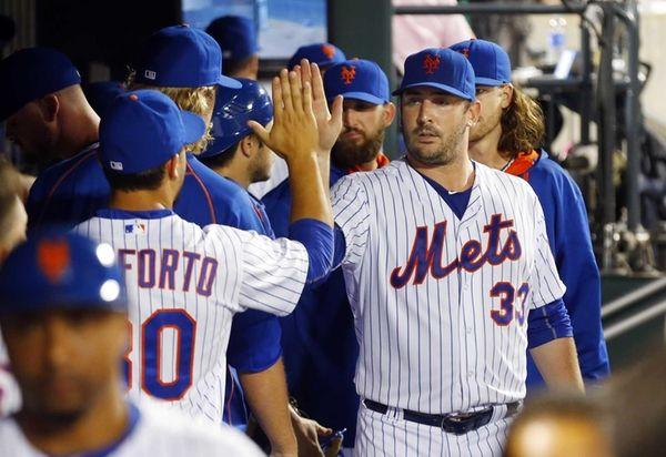 Matt Harvey of the New York Mets walks
