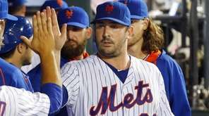 Matt Harvey of the New York Mets walks