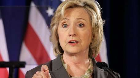 Democratic presidential hopeful Hillary Rodham Clinton speaks July