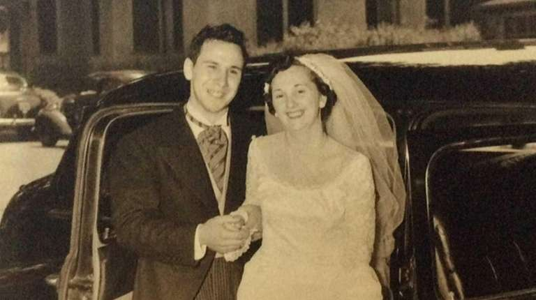 Anthony and Ruth Saylor on their wedding day,