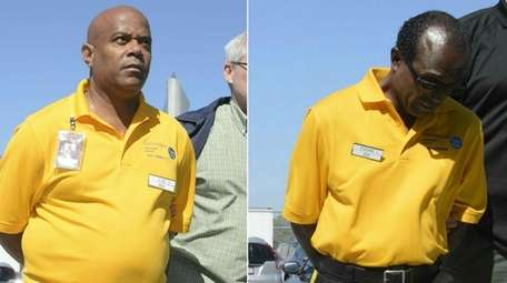 Gary Luc Valerius, 55, left, and Louis Evens,
