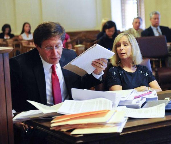 Bruce Lederman, left, an attorney acting on behalf