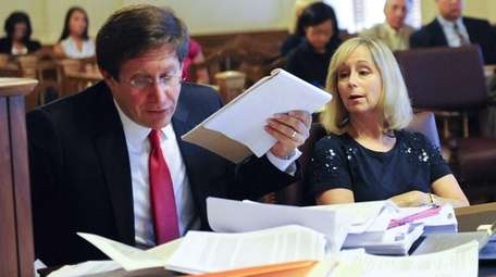 Bruce Lederman, left, an attorney acting on behalf