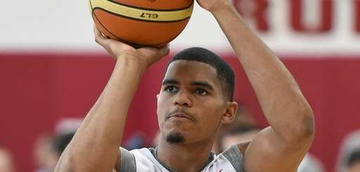 Tobias Harris #55 of the 2015 USA basketball