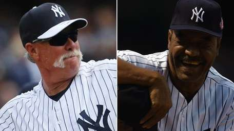 This Newsday composite shows former Yankees pitcher Goose