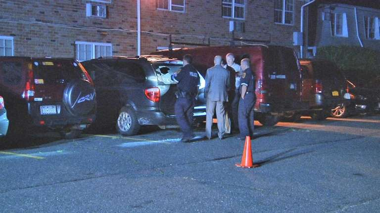 Police investigate a shots-fired incident late Wednesday night,