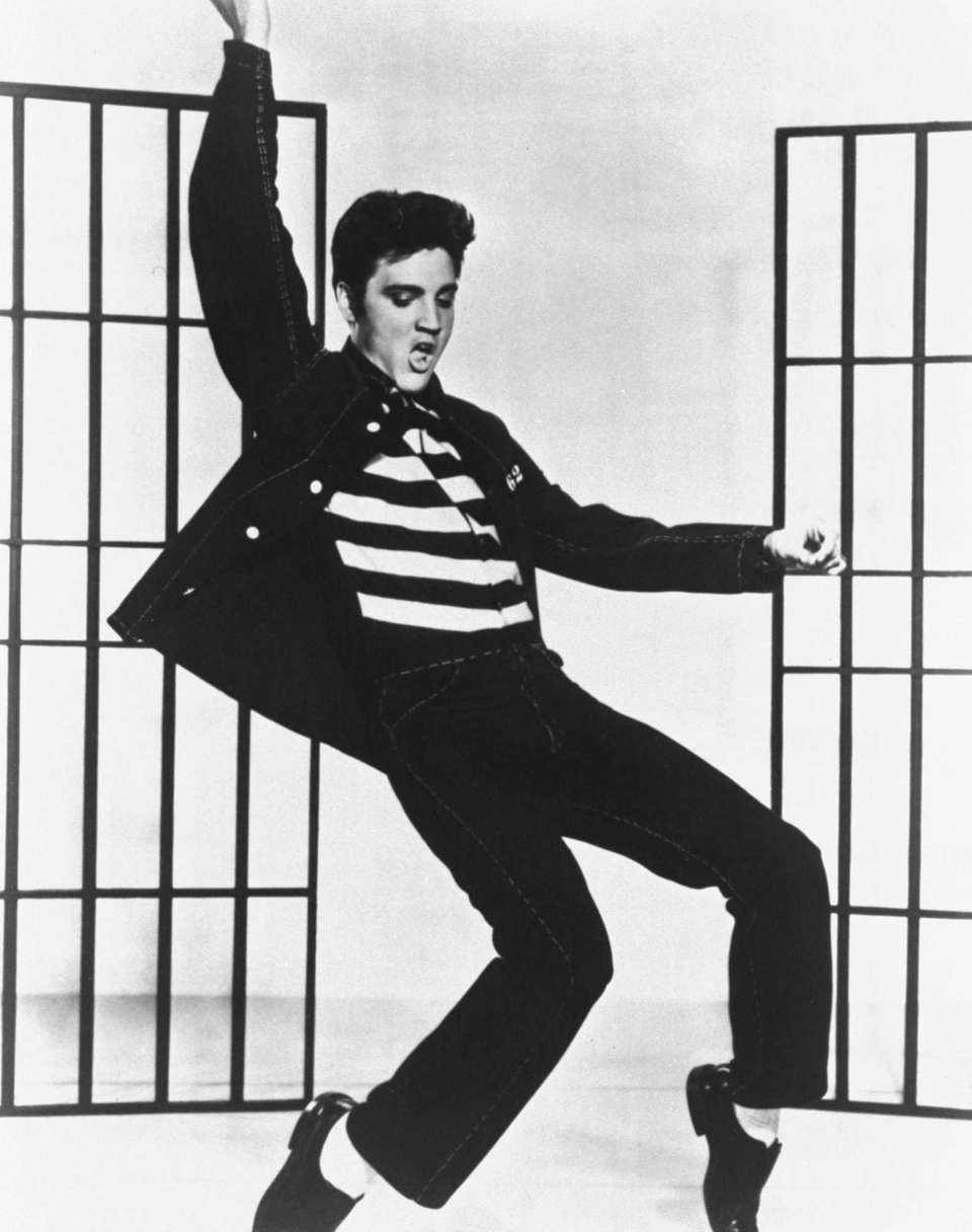 Elvis Presley is seen in a photo from