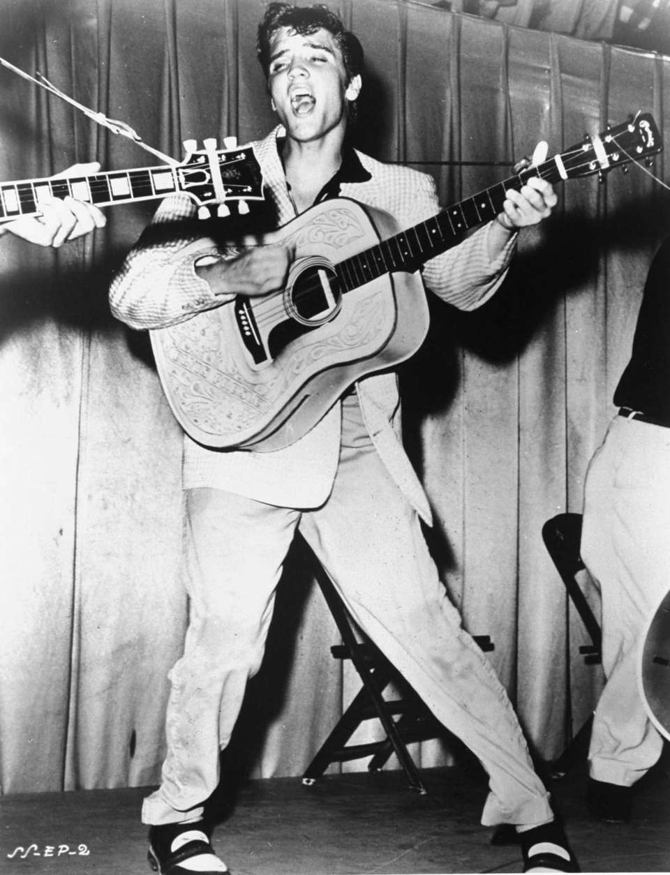 Elvis Presley records his first single