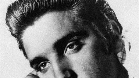 An undated photo of US rock star Elvis