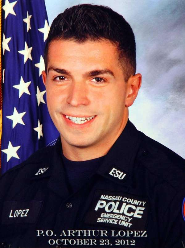 State officials are honoring slain Nassau police Officer