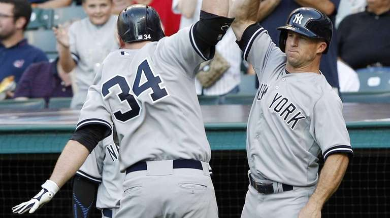 Brian McCann of the New York Yankees celebrates