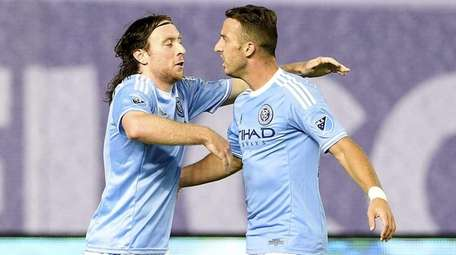New York City FC midfielder Thomas McNamara is