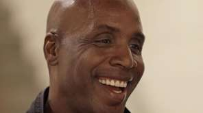 Former San Francisco Giants player Barry Bonds smiles