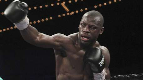 Steve Cunningham throws a punch during a heavyweight