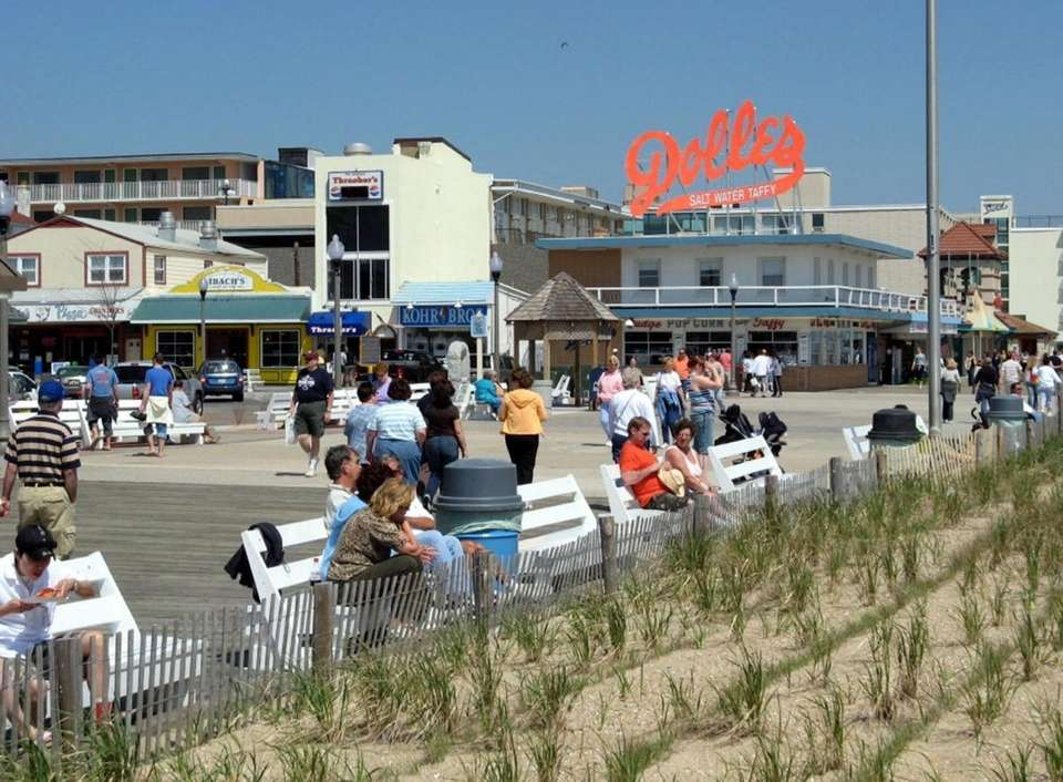 Rehoboth Beach, Delaware (about 200 miles from New