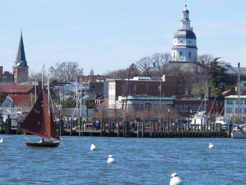 Annapolis, Maryland (220 miles southwest of New York
