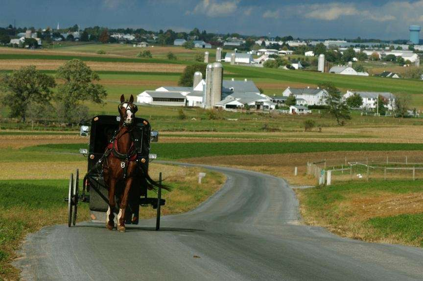 Lancaster County, Pennsylvania (about 150 miles from New
