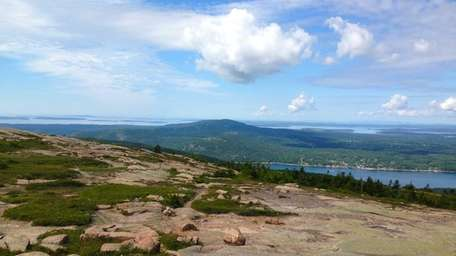 The view from the top of Sargent Mountain,