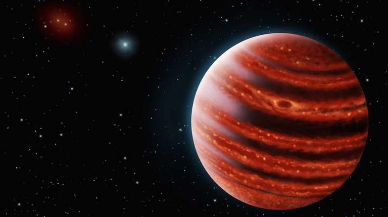 This artist's conception shows the Jupiter-like exoplanet 51