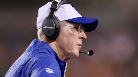 Tom Coughlin the head coach of the New