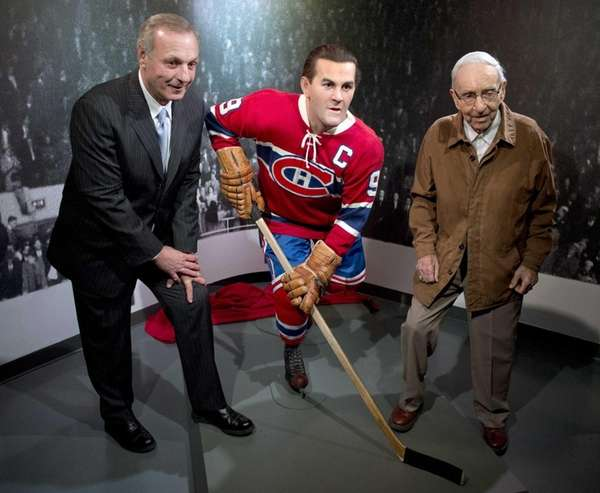 Former Montreal Canadiens Guy Lafleur, left, and Bob