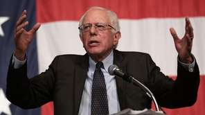Democratic presidential candidate Sen. Bernie Sanders speaks at