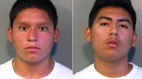 Mario Mayancela, 16, and Gregorio Garcia, 16, both