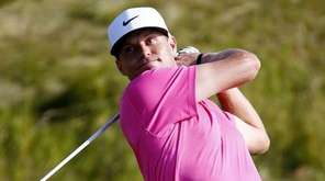 Nick Watney of the United States watches his
