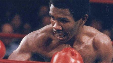 Howard Davis Jr. of Glen Cove, right, fights