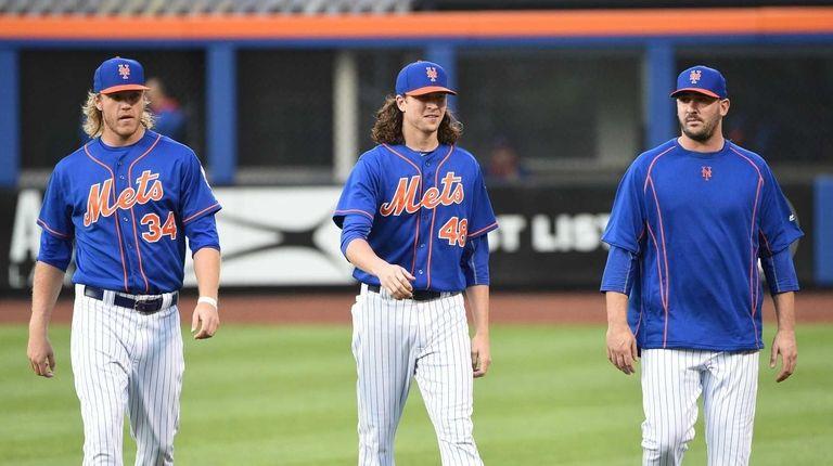 New York Mets pitchers Noah Syndergaard, Jacob deGrom